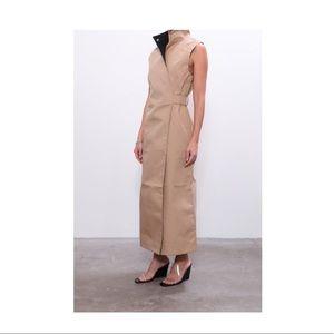 GANNI Tannin Double Cotton High Neck Dress Sz 38